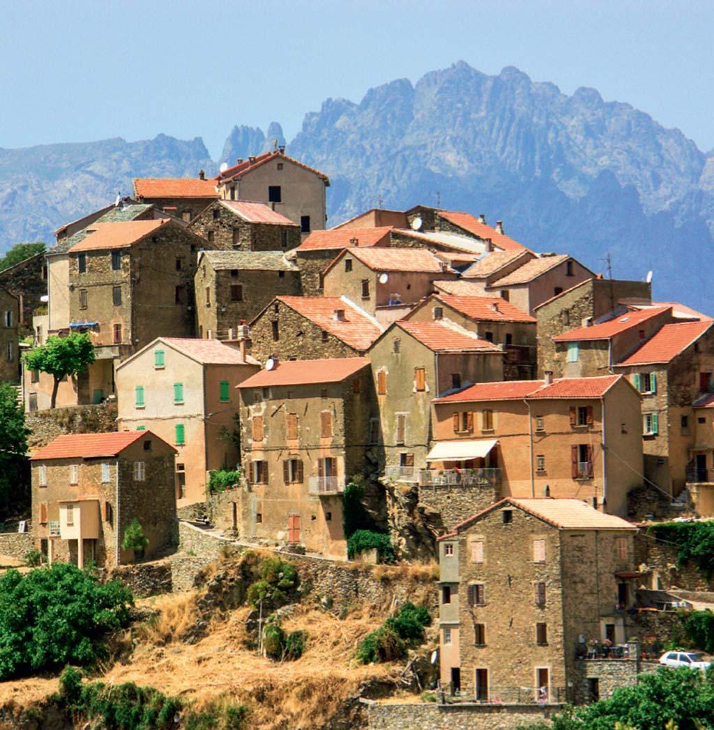 As casas encarapitadas de Corte, na Córsega
