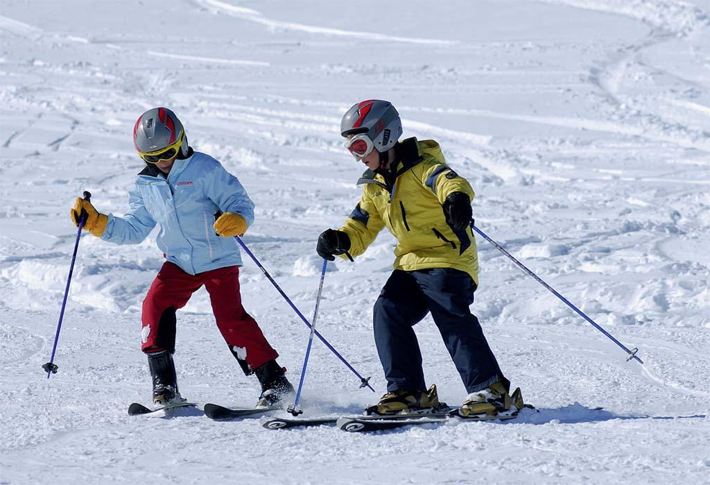 Nascidos para esquiar no Valle Nevado