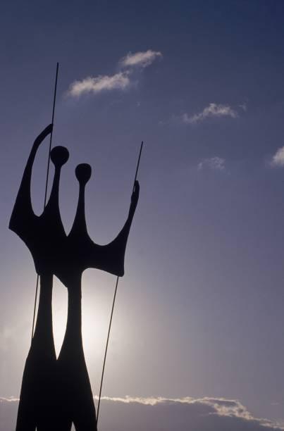 """O monumento """"Os Guerreiros"""", também conhecido como Os Candangos, de Bruno Giorgi, é uma homenagem aos operários que trabalharam na construção de Brasília"""