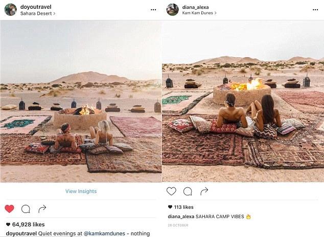 Repare: até as almofadas estão na mesma posição nessa foto de um acampamento phyno no Saara