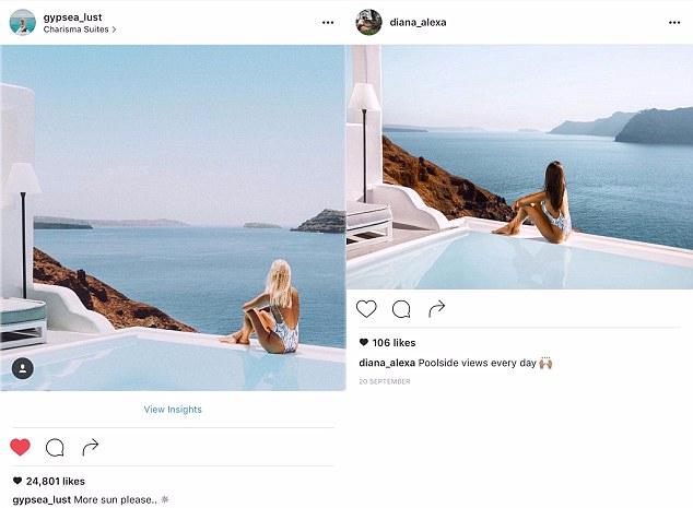 Uma pose contemplativa em Oia, Santorini, na Grécia (um detalhe: estes hotéis dessa parte da ilha são caríssimos)
