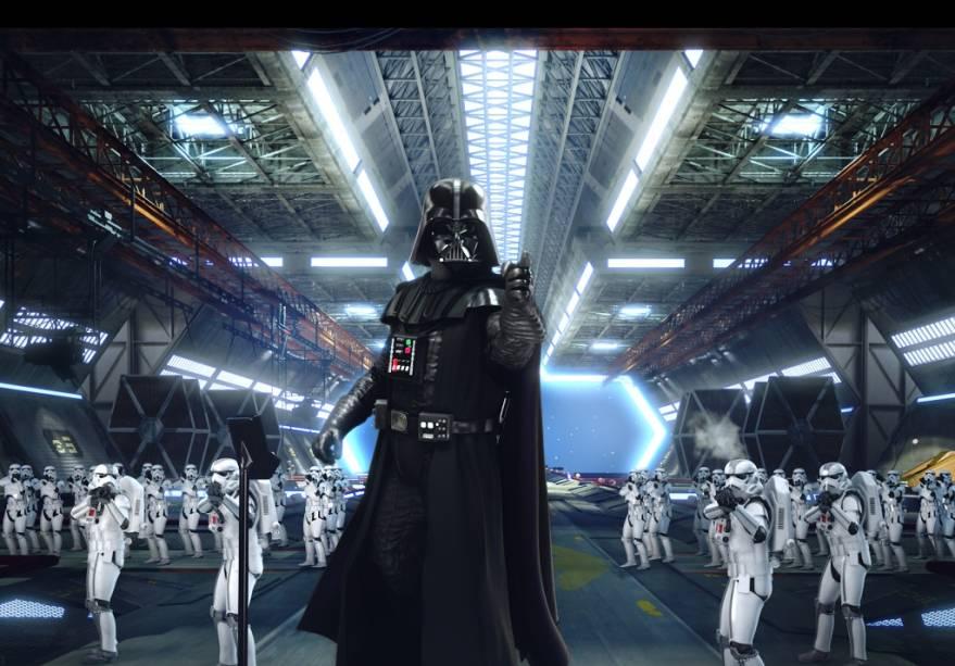O Star Tours da Disneyland traz os personagens da saga Star Wars