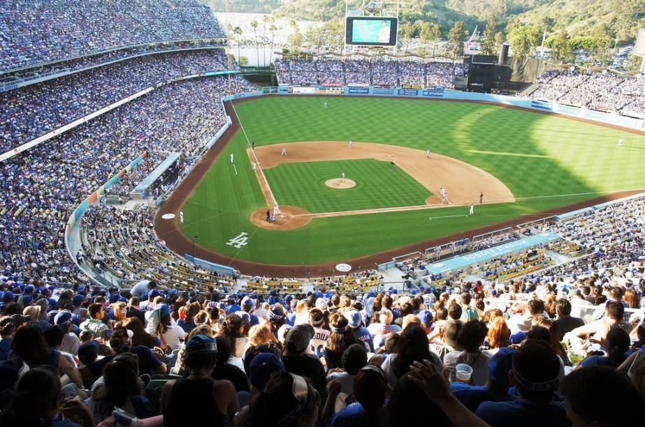 Os californianos adoram o beisebol e Los Angeles não é exceção, com os times Anaheim Angels e Los Angeles Dodgers (foto)