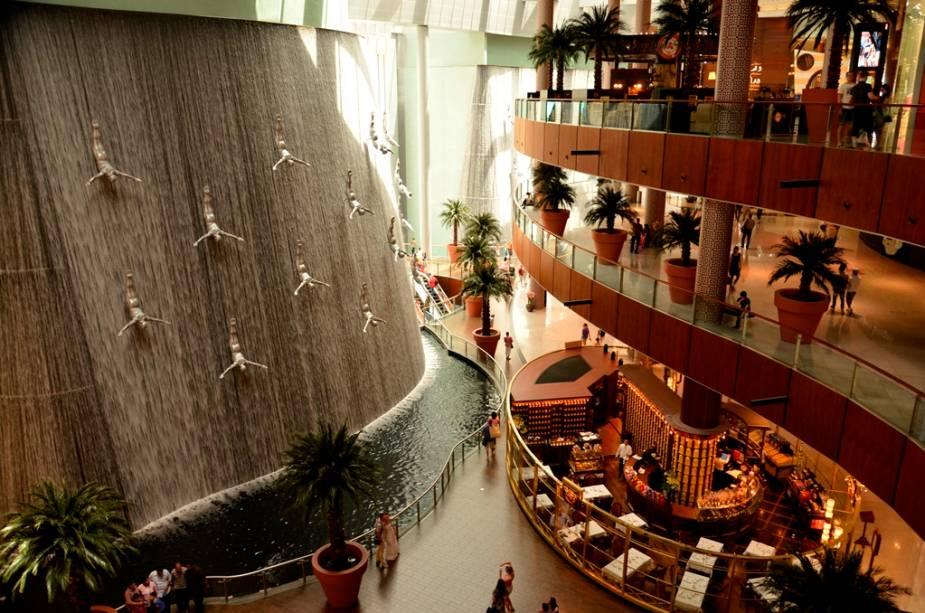 Cascata no superlativo Dubai Mall