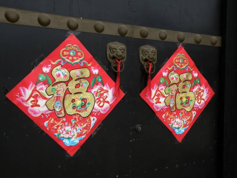 Sinais de boa-fortuna são muito comuns na China