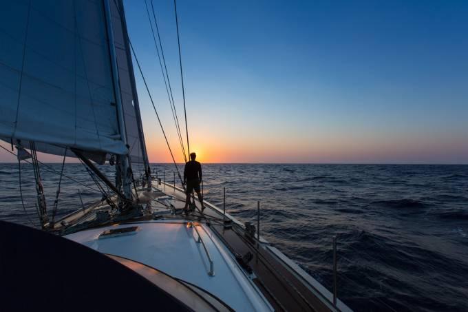 Emmanuel Schurmann no veleiro Kat
