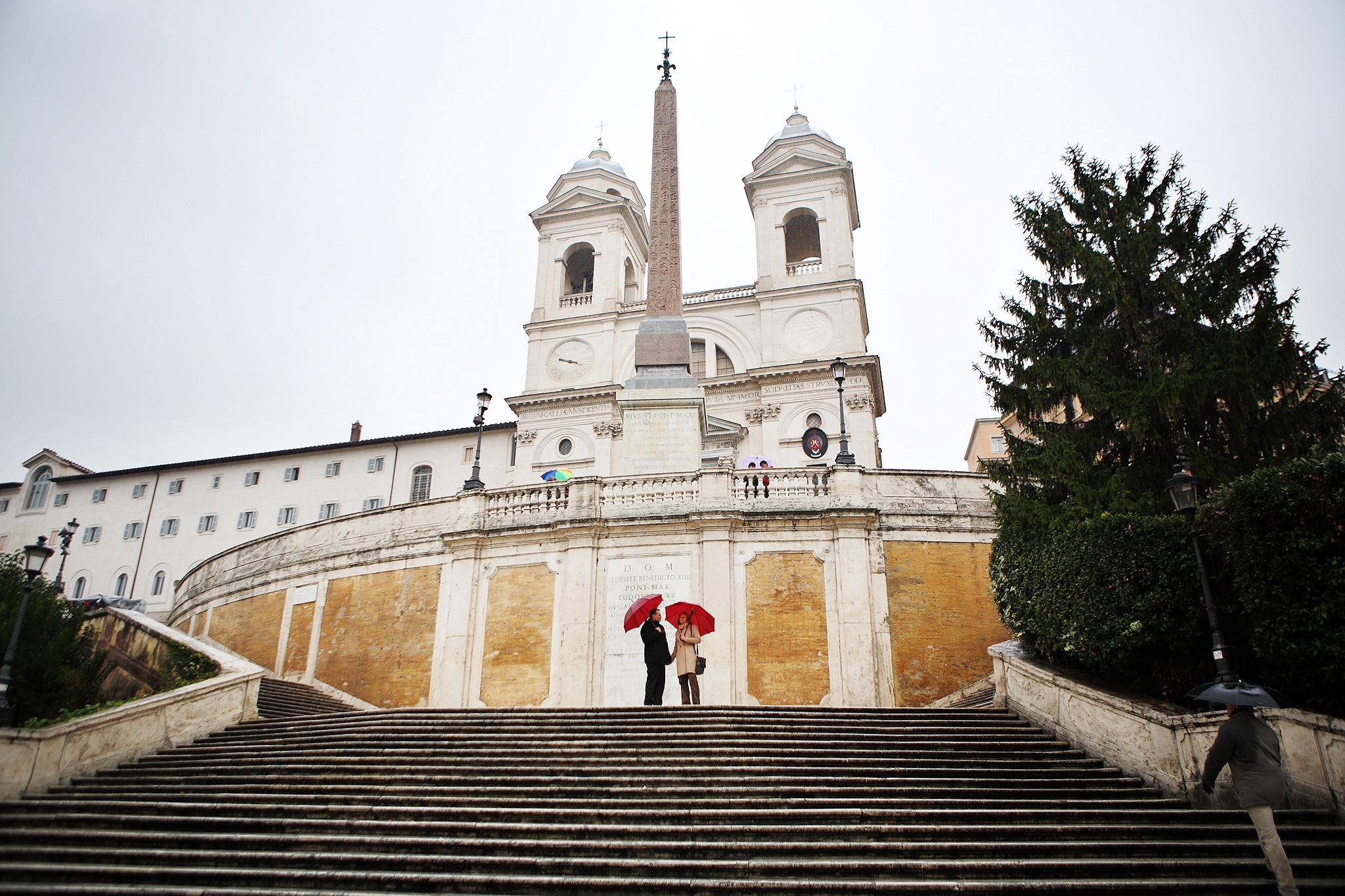 Escadarias da Plaza espana, em Roma, Itália