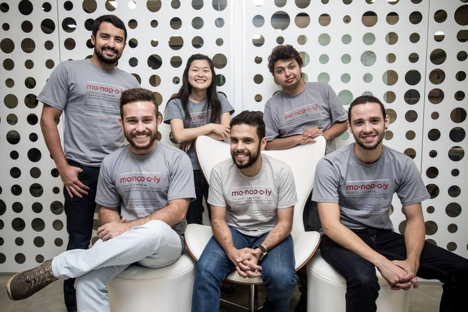 Startup Evnts: Rafael Vieira, Matheus Fonseca, Mie Nakae, Alexandre Rodrigues, Victor Martins e Mateus Martins