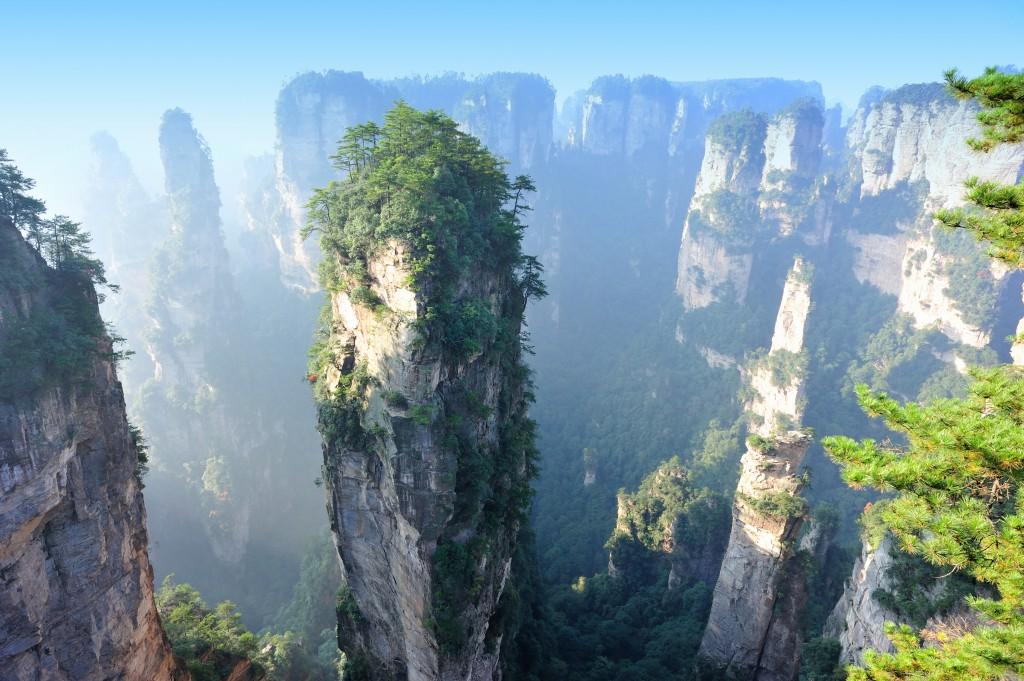 O Parque Zhangjiajie é considerado um dos Patrimônios da Humanidade pela Unesco (foto: iStock/lzf)