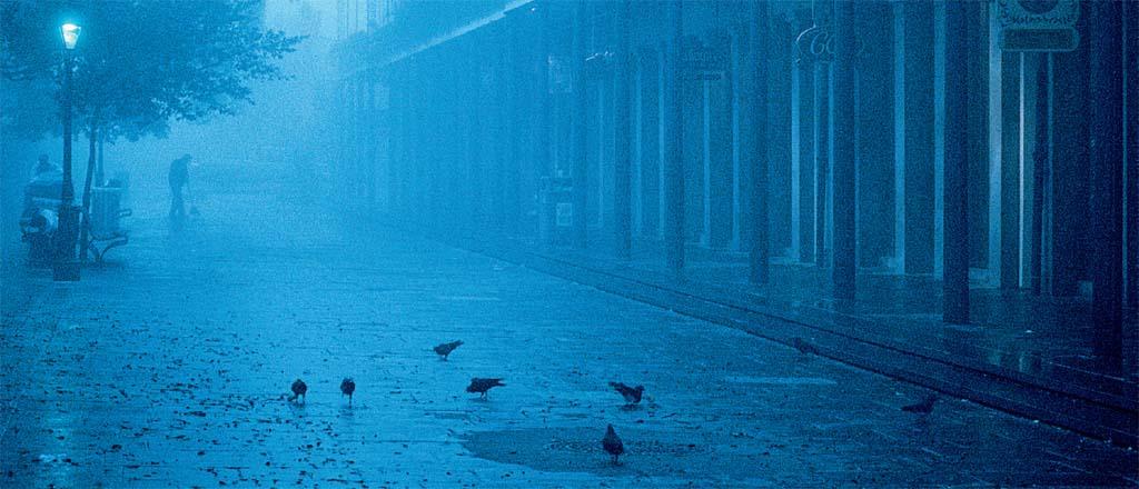 Fog matinal nas franjas do French Quarter, em Nova Orleans