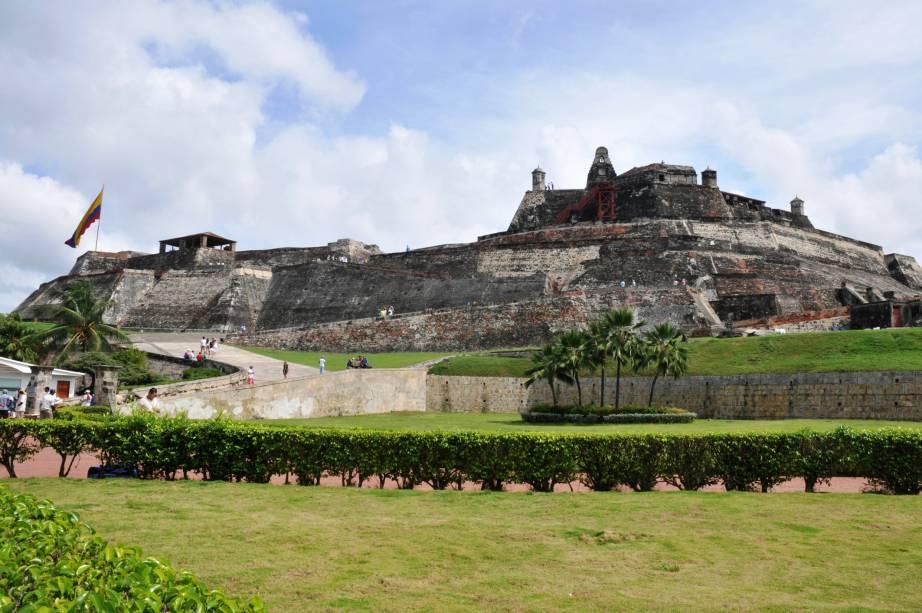Forte em Cartagena, um dos belos cenários da cidade