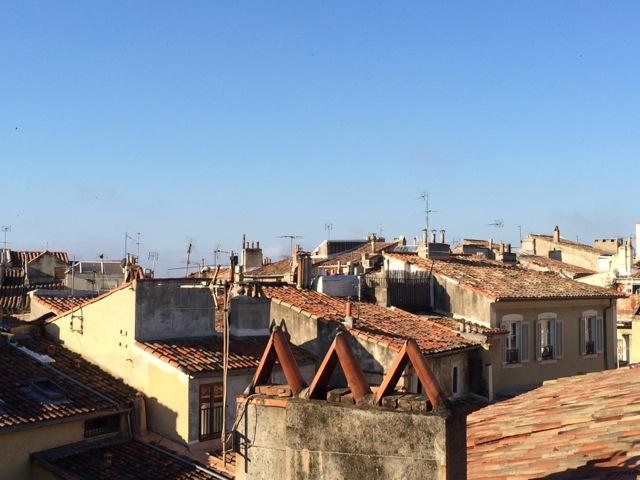 Vista sobre os telhadinhos do Centro histórico do meu terraço