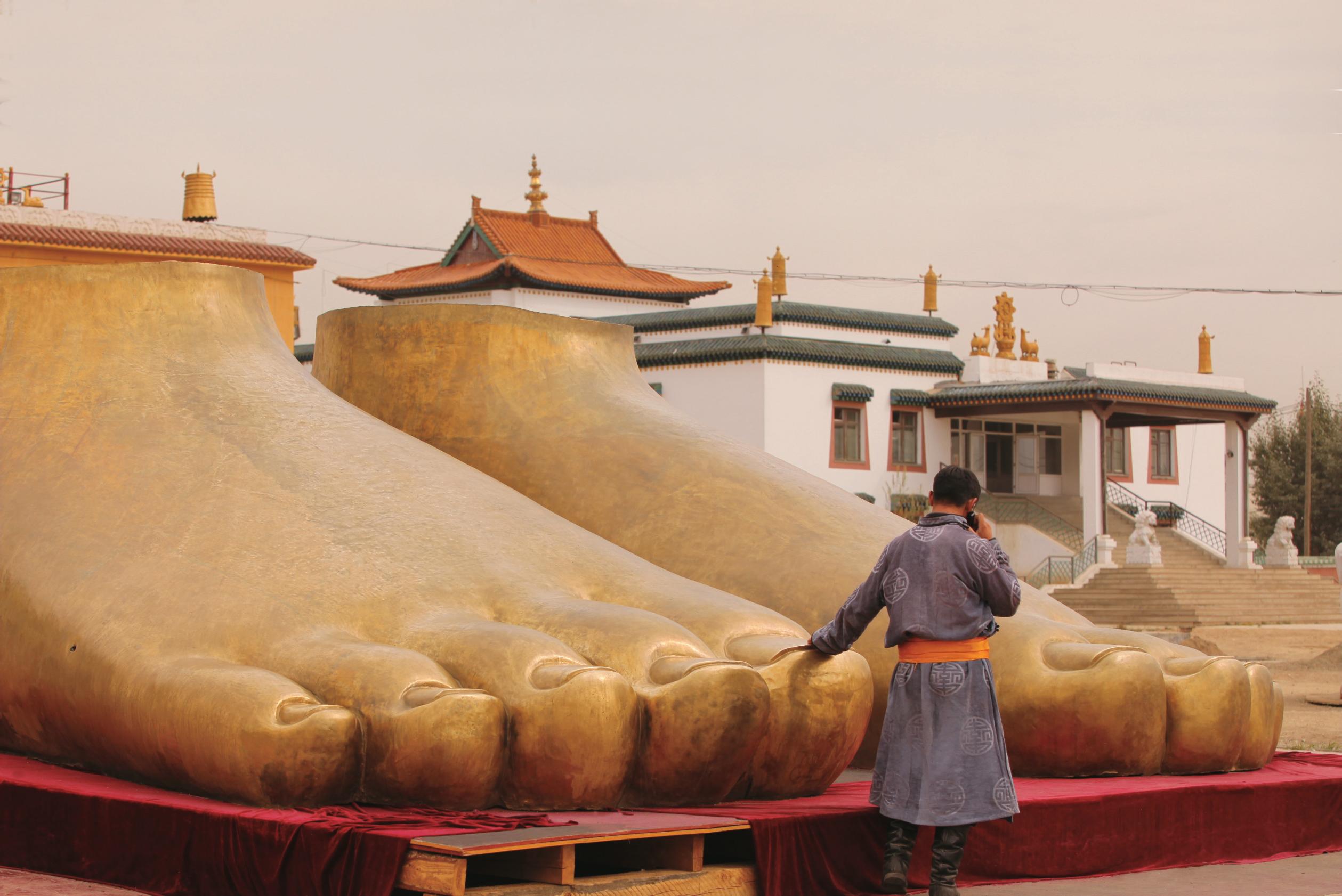 Gandan Khiid, casa do líder espiritual Khamba Lamba, em Ulan Bator, na Mongólia