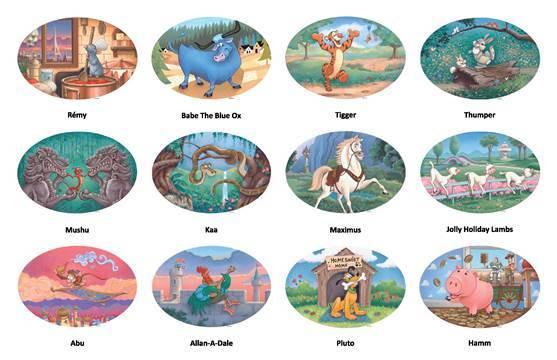 Mosaicos do Garden of the Twelve Friends (Foto: Disney Parks Blog)