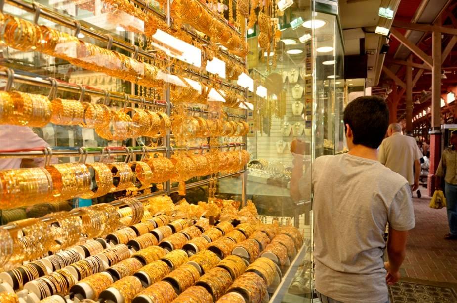 O mercado de ouro Gold Souq é uma importante atração em Deira