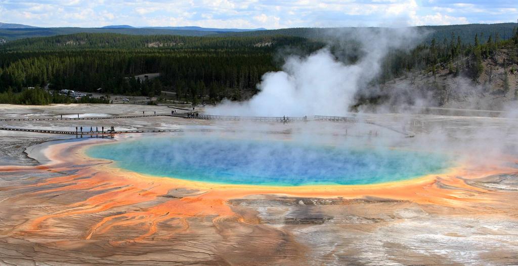 Grand Prismatic Spring, Parque Nacional de Yellowstone, EUA