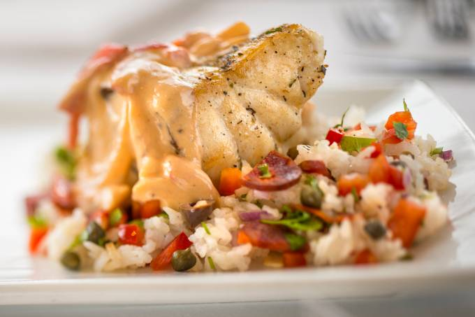 Grouper with Coconut Sauce