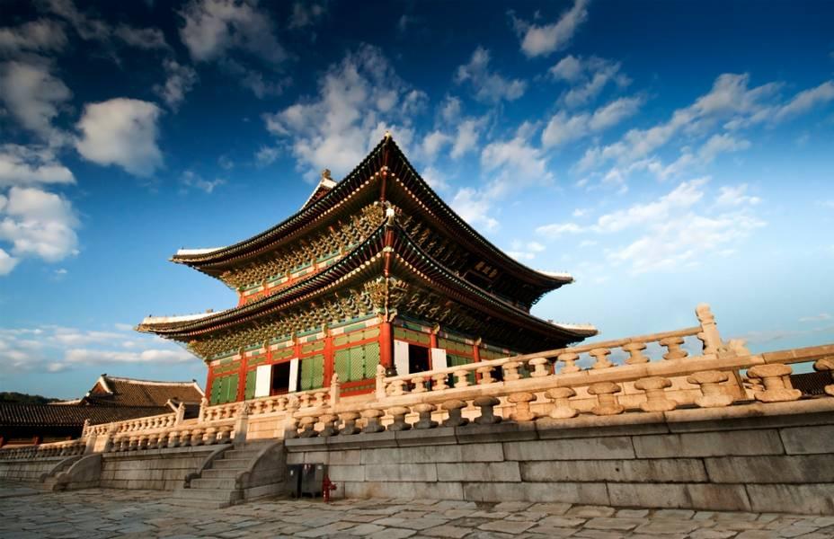Sala do Trono no Palácio Gyeongbokgung