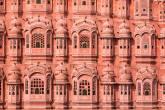 Janelas do Hawa Mahal, o Palácio dos Ventos, em Jaipur, na Índia