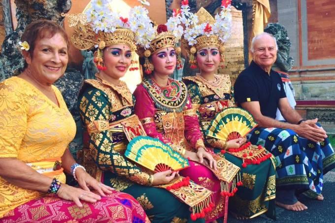 Heloísa e Vilfredo em Bali