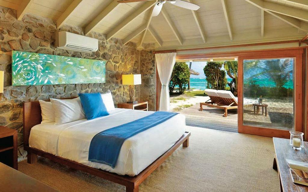 Quarto do Hotel Petit St.-Vicent, no arquipélago de Saint Vicent e Grenadines, no Caribe