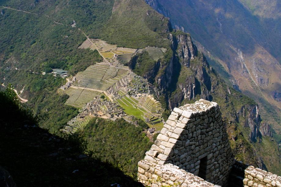 Vista de Machu Picchu a partir da montanha Huayna Picchu
