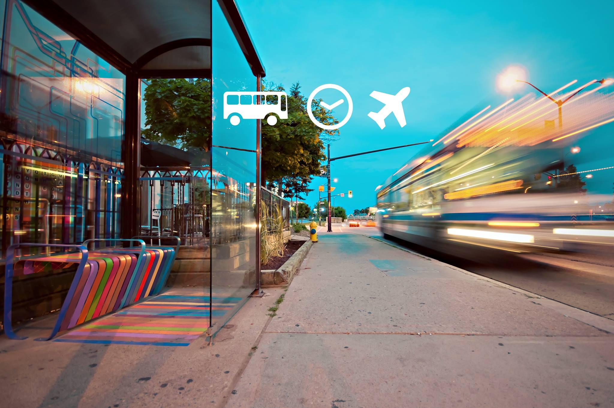 O bumba + que horas passa + rumo ao aeroporto? (Foto: Reprodução/Facebook)
