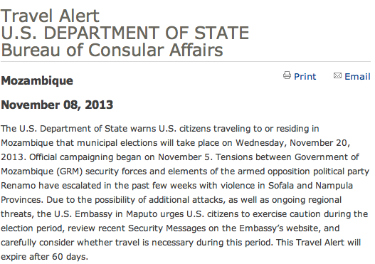 O alerta do governo americano: ai meu deus...
