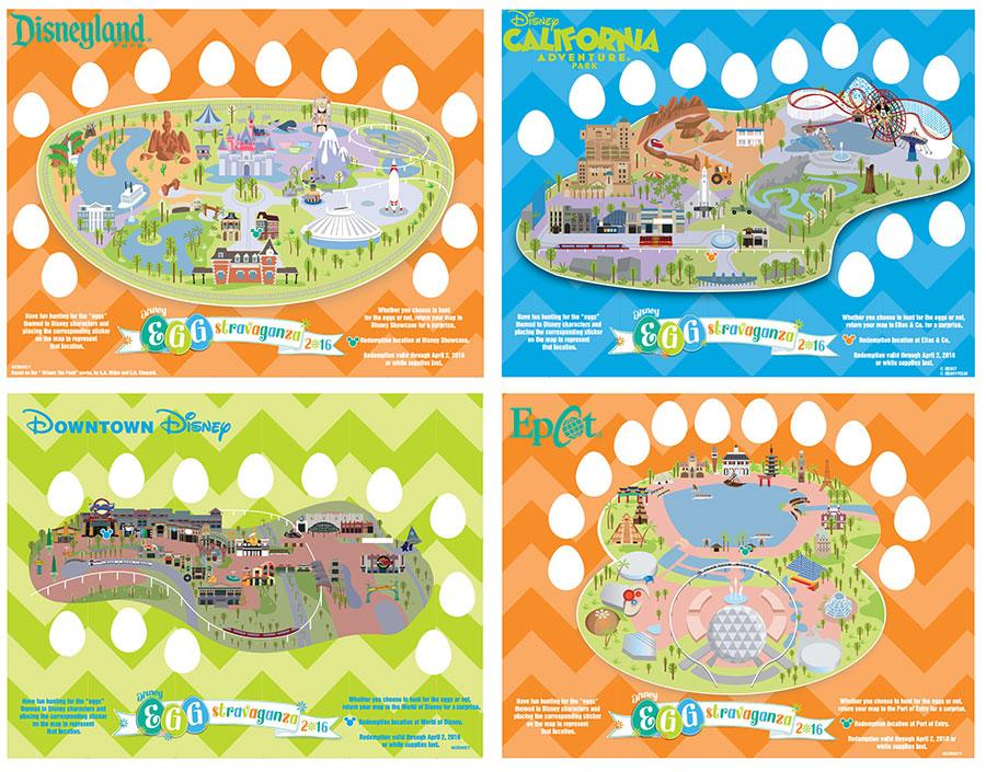 Mapas da caça aos ovos (Foto: Disney Parks Blog)