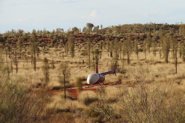 O helicóptero disponível para sobrevoos: um dos passeios extra possíveis