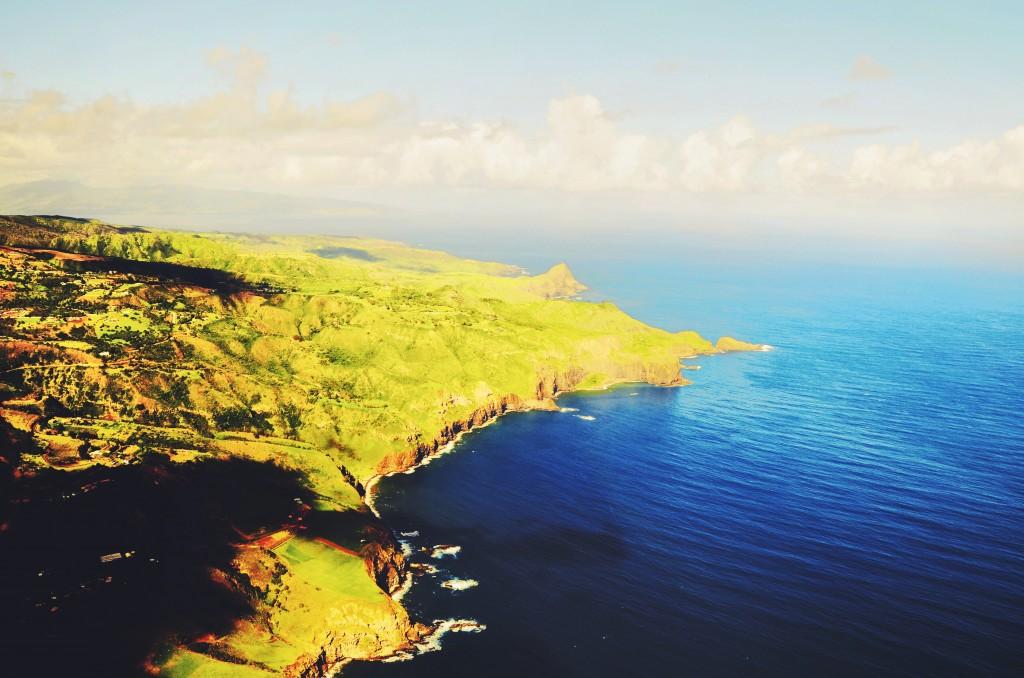 Já de volta a Maui. É surreal ficar observando as fendas do percurso que a lava fazia (foto: Anna Laura Wolff)