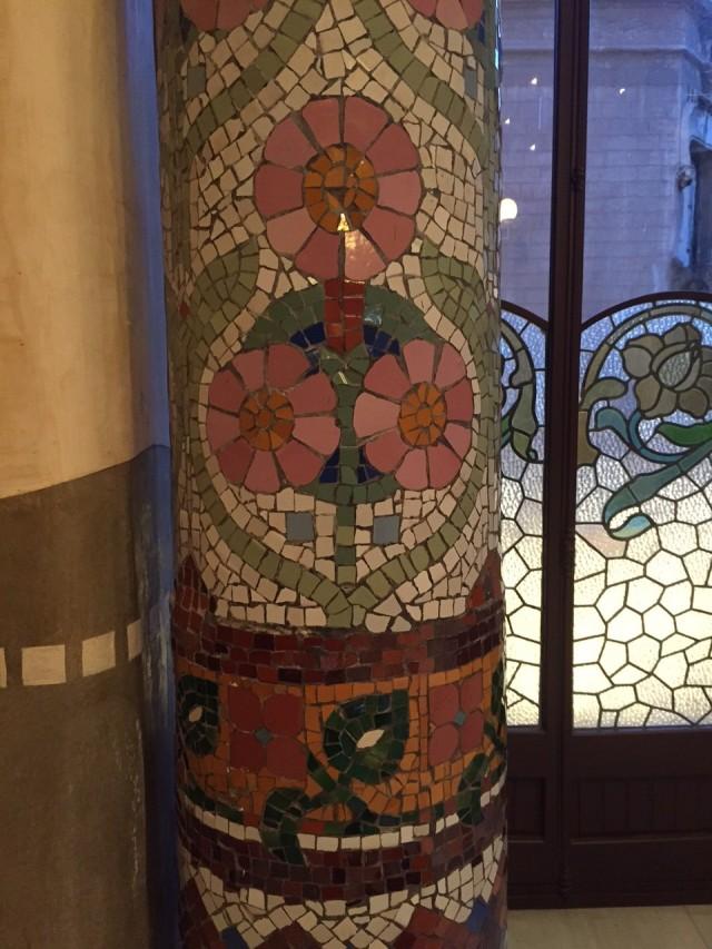 Detalhe de uma das colunas