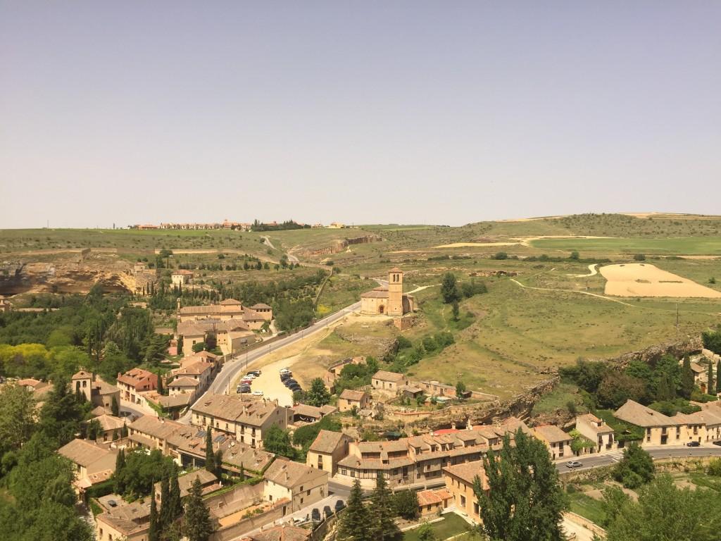 A cidade de Segóvia, vista do Alcázar. (Foto: Família Nômade)
