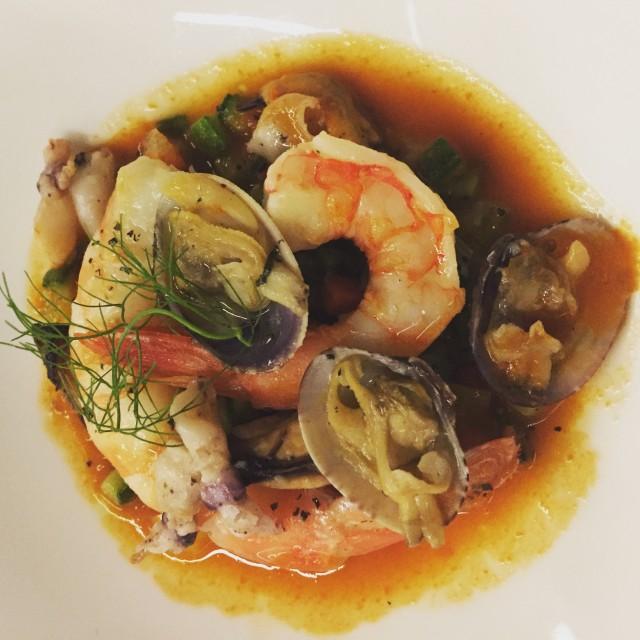 Receita mar e montanha do restaurante Massimo Camia