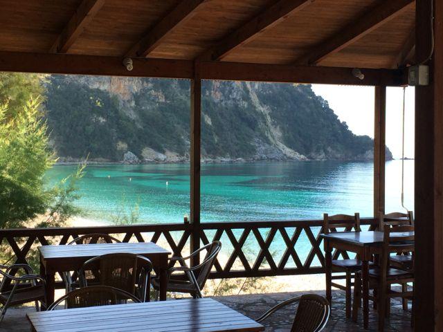 Visual do café da manhã no hotel em Potami Beach, Himarë