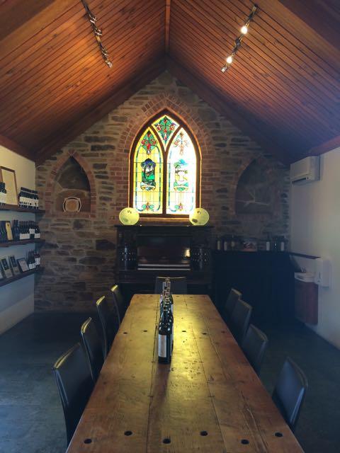 Interior da lindona Chapel Hill, em Mc Laren Vale