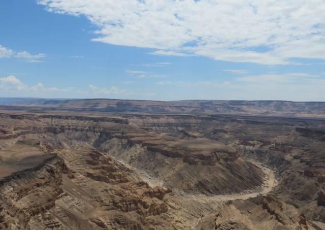 O majestoso Fish River Canyon, o segundo maio cânion do mundo depois do Grand Canyon nos Estados Unidos