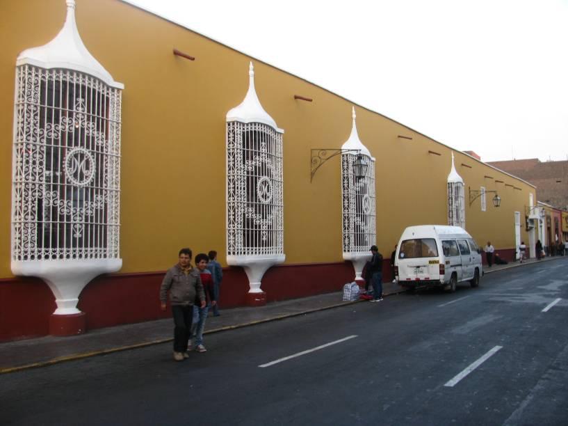 Ruas de Trujillo, capital de La Libertad, norte do Peru
