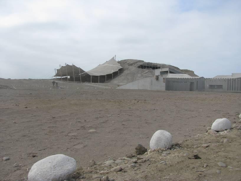Complexo arqueológico El Brujo, a cerca de 60 quilômetros de Trujillo, norte do Peru