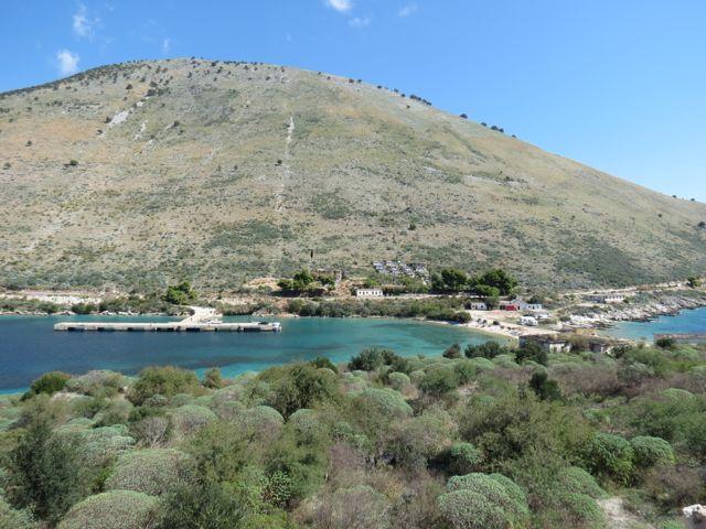 A baía de Porto Palermos