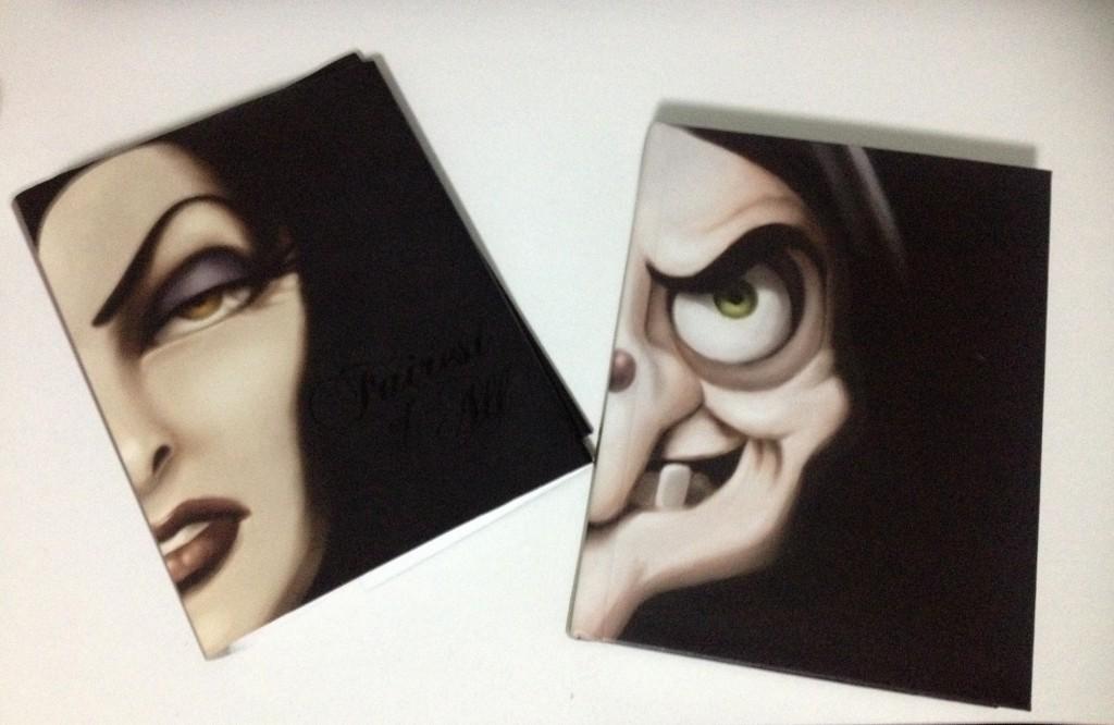 """""""Fairest of All', livro de Serena Valentino. Do lado direito, a capa removível; do lado direito, a capa interna do livro."""