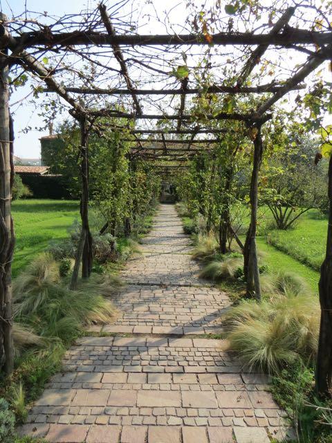 Detalhe do maior jardim privado de Veneza