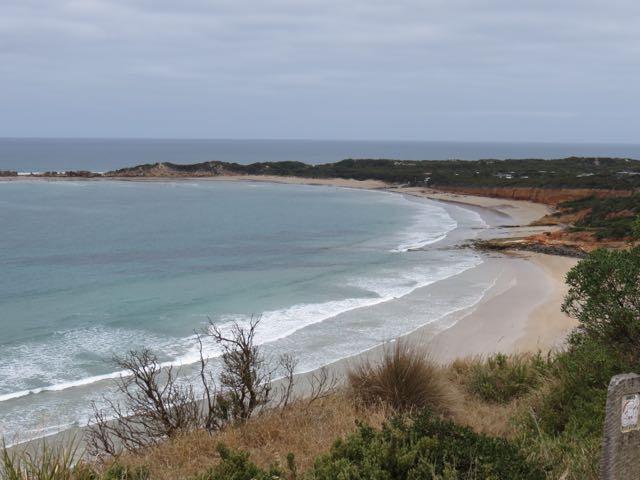 As primeiras praias começam a aparecer depois de uns 40 minutos de Melbourne...