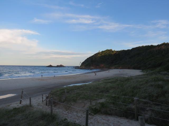 Fim de tarde em Lennox Head, uma das praias mais bonitas dos arredores