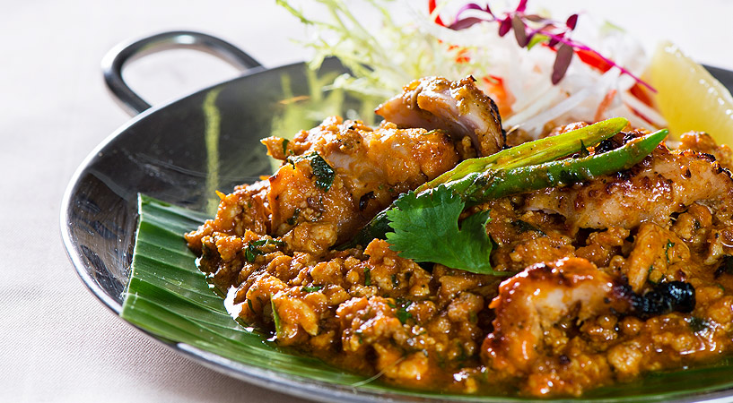 Prato do Chor Bizarre, restaurante de Délhi, Índia