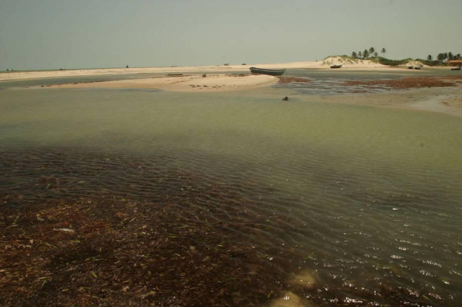 Vista do hotel Rancho do Peixe, uma das opções de hospedagem na Praia do Preá, destino preferido dos kitesurfistas