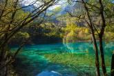 Lago das Cinco Flores, Parque Nacional Jiuzhaigou, província de Sichuan