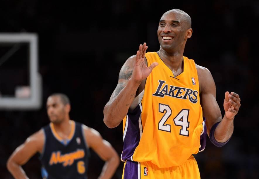 Os Los Angeles Lakers são um dos mais bem sucedidos times da história da liga norte-americana de basquete NBA. Kobe Bryant (foto) é apenas o mais recente de uma lista espetacular de astros da equipe, um rol que inclui Magic Johnson, Kareem Abdul Jabbar e Shaquille ONeal