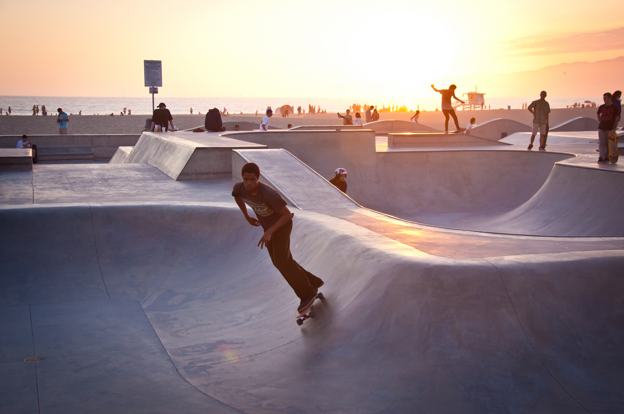 Pista de skate na Venice Beach, Los Angeles (foto: Chris Goldberg/Flickr/creative commons)