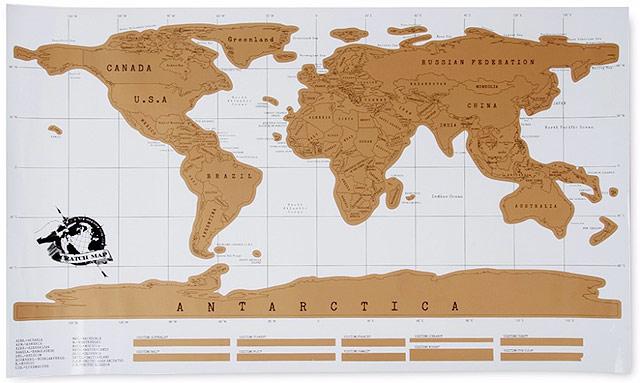 O mapa chega na sua casa assim